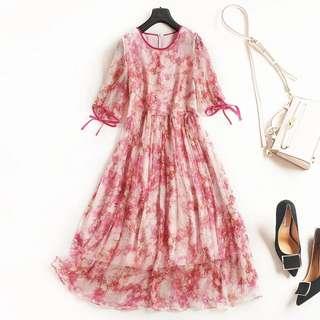 🚚 氣質古典綁帶洋裝