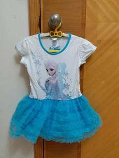 Last two! New Frozen Elsa Dress 全新冰雪奇緣裙 Tee size 98/104