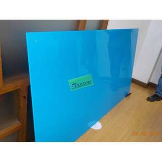 TEMPERED GLASS WRITING BOARD - BLUE COLOR_Office Furniture