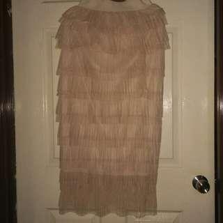 Nude Tulle Skirt