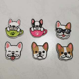 French bulldog iron on patch