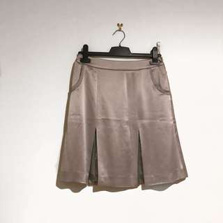 Viola Vintage Silver Pleated Skirt Size 36