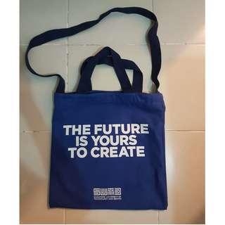 Blue Singapore University of Technology & Design (SUTD) Cloth Tote Bag