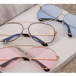 2019歐美時尚流行方框金屬太陽眼鏡