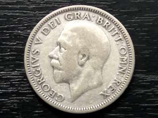 1931 UK King George Silver Shilling Coin