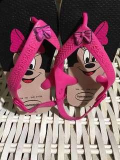 Havaianas Minnie Mouse Slipper Size US 10c/EUR 27/28