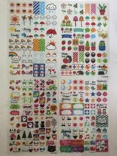 Planner/Scrapbook Transparent Stickers