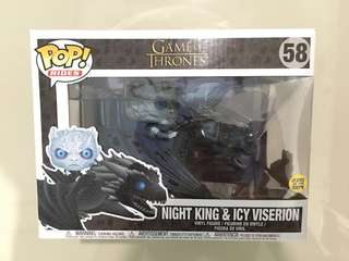 Game of Thrones Funko POP! Rides Night King & Icy Viserion Glow in the Dark #58