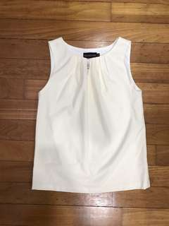 TCL sleeveless TOP off white