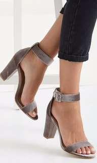 San Sebastian Velvet Block Heels #letgo4raya