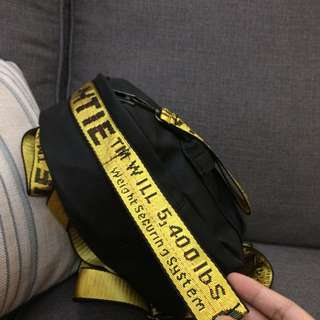 READY STOCK Off white backpack yellow tumblr korean trendy