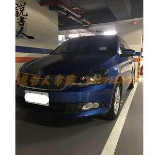 FB搜尋『說書人車庫』專營熱門二手中古車-16 fabia藍
