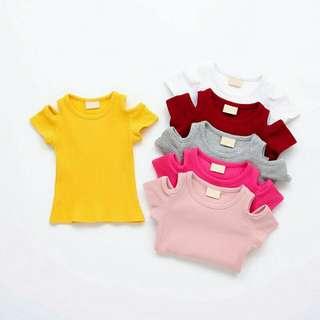 Kids off shoulder blouse #20under