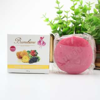 Bumebime Soap Handmade Soap Thailand Whitening Soap Fruits Essential Oil Bath and Body(wholesale) X 6