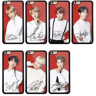 (PO) BTS Signature Phone Case