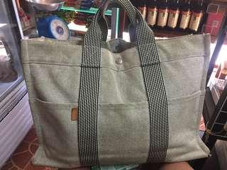Hermes large tote canvas bag
