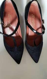 F.LLI Bruglia leather heel pumps