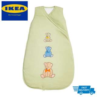 IKEA MINIBJÖRN Sleeping bag, light green FAST DELIVERY