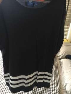 Adidas long oversized top