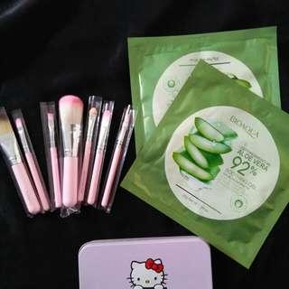 Free!!  Kuas make up / brush / bioaqua aloevera / aloevera