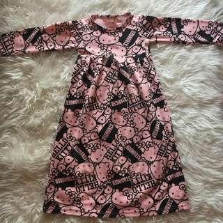 PL! Long Dress / Baju Muslim Hello Kitty