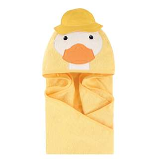 Little Treasure Baby Animal Face Hooded Towel Yellow Duck