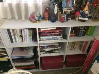 白色書櫃*2