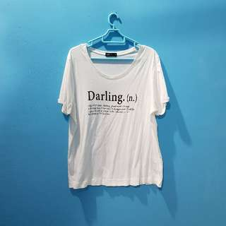 White Darling Shirt #20under