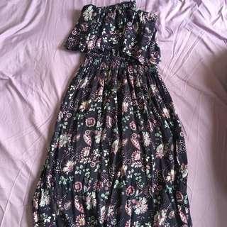 Cotton On purple floral maxi dress