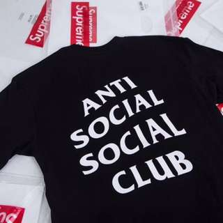 Anti social social club tshirt