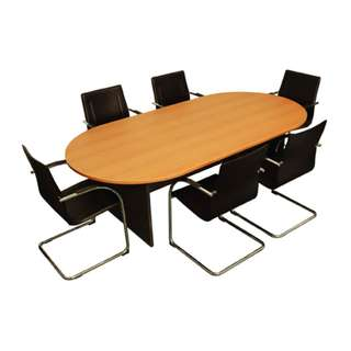Office Furniture - 2tone Oval conference table