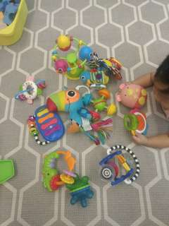 Bundle of toys suitable for babies