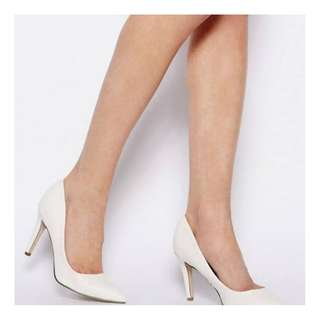 ASOS White Pointed toe pumps Heels size 38