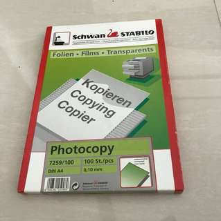 schwan stabilo photocopy transparent film