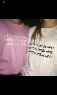 Drake 1800-Hotline Bling Shirt in Pink