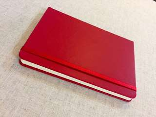 Red Hard Cover Notebook -A5