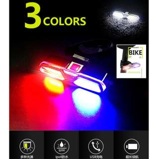 Goofy Tri Color COB 6 Mode USB Rechargeable Safety Light DT-6002 / Bicycle Lights / Scooter Lights