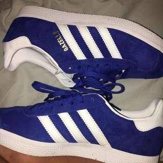 Blue Adidas Gazelle's