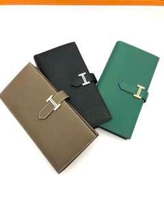 Bearn Wallet Etoupe/ 黑色 / Vertigo Epsom皮銀扣/金扣