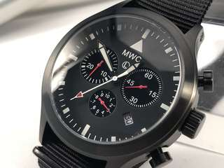 MWC Mil-Tec MKIV Military Pilot Chronograph Watch