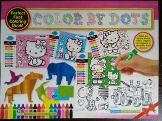 HELLO KITTY COLOR BY DOTS COLOURING BOOK #20under