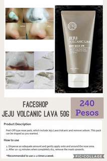 THE FACESHOP JEJU VOLCANIC PEEL OFF MASK 50g