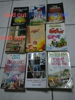 Novel Melayu ( RM100 - tk termasuk postage ) utk semua yang tinggal...
