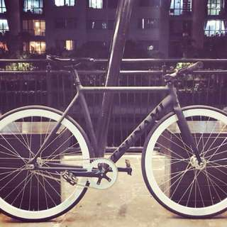 "26"" TSUNAMI BLACK Track Frame Off-White Style FIXIE (Limited Edition) Coaster Brake Fixed Gear Free Gear Flip Flop Hub 9Kg Only (PM For More Details)"