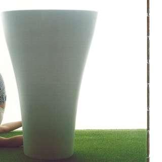 SERRALUNGA  White Flower Vase (MING HIGH-WHITE)