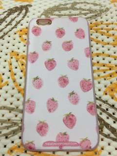Casing Iphone 6 Plus - Softcase Strawberry Pattern