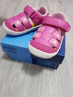 Pink Stride Rite Shoes With Straps