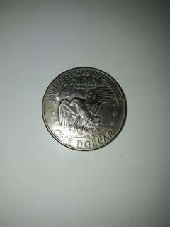 Old Coin.( USA ) $ 1.Coin.liberty. Year 1972.