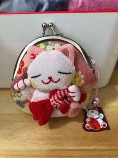 Japanese Kitty Coin Pouch