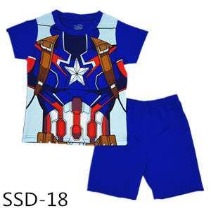 Captain America Marvel Hero T-shirt set